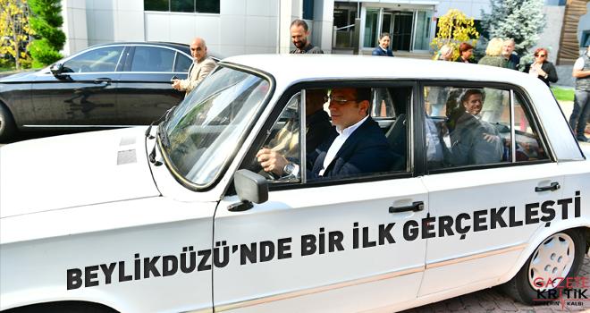 BEYLİKDÜZÜ'NÜN İLK ELEKTRİKLİ ARACINI İMAMOĞLU...