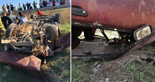 Ayvalık'ta kaza: 6 yaralı