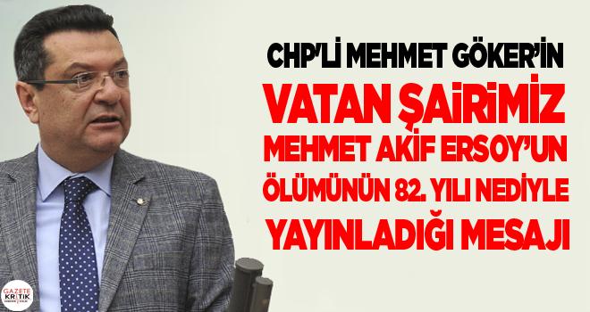 CHP'Lİ MEHMET GÖKER'İN VATAN ŞAİRİMİZ MEHMET...