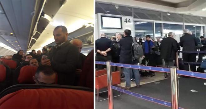 THY'nin Paris'ten İstanbul'a gelecek uçağında...