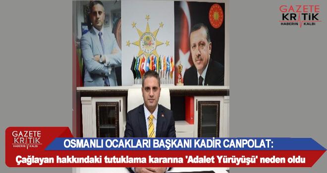 Osmanlı Ocakları Başkanı, Zafer Çağlayan'ın...