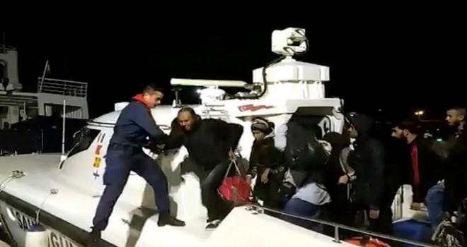 Çeşme ve Kuşadası'nda 93 kaçak göçmen yakalandı