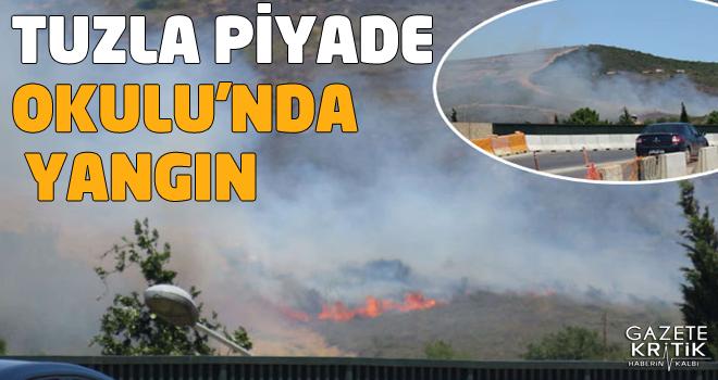 Tuzla Piyade Okulu komutanlığı arazisinde yangın