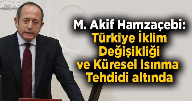 M. Akif Hamzaçebi:Türkiye İklim Değişikliği...