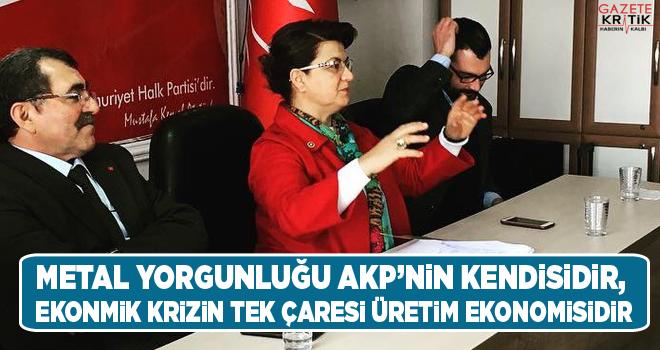 METAL YORGUNLUĞU AKP'NİN KENDİSİDİR, EKONMİK...