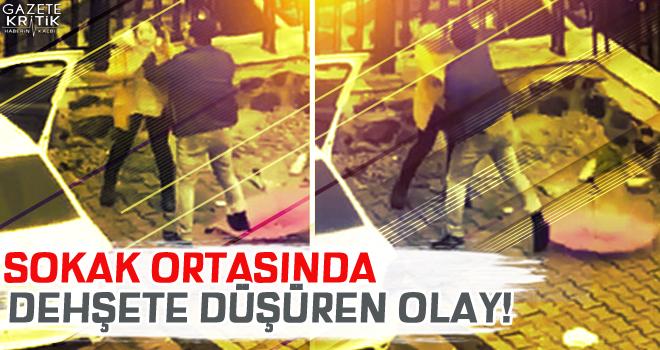 İzmir'de sokak ortasında kadına dayağa büyük...