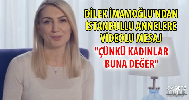 Dilek İmamoğlu, İstanbullu annelere Ekrem İmamoğlu'nu...
