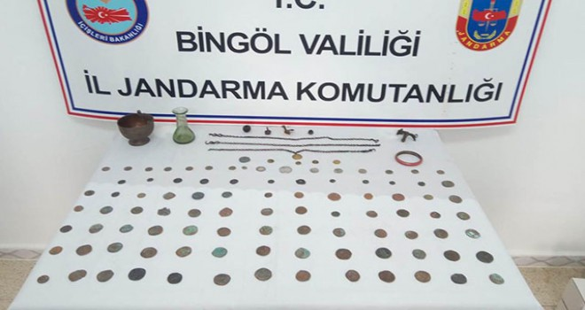 Bingöl'de 116 parça tarihi obje ele geçirildi