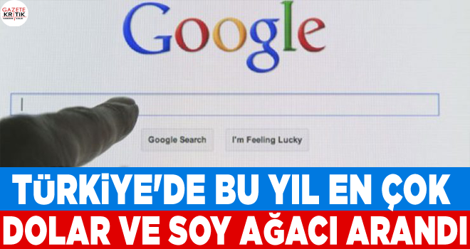 Google: Türkiye'de bu yıl en çok dolar ve soy ağacı...