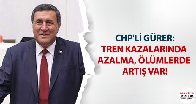 CHP'Lİ GÜRER:TREN KAZALARINDA AZALMA, ÖLÜMLERDE...
