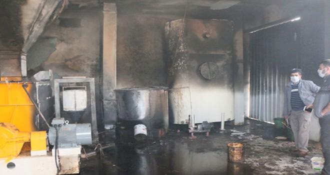 Adıyaman'da yem fabrikasında yangın