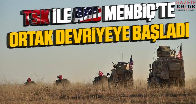 TSK ile ABD, Menbiç'te ortak devriyeye başladı
