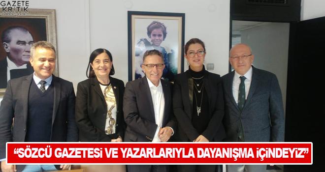 CHP'li vekillerden Sözcü Gazetesi'ne destek ziyareti