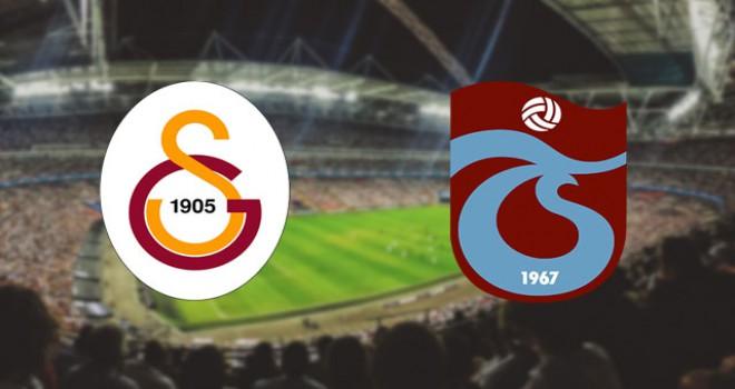 Galatasaray - Trabzonspor maçında 11'ler belli oldu