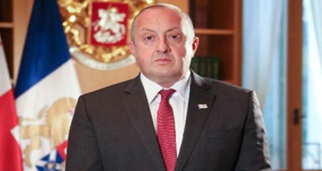 Gürcistan Cumhurbaşkanı Georgi Margvelaşvili'nin...