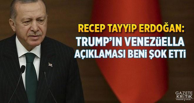 Erdoğan: Trump'ın Venezüella açıklaması beni...