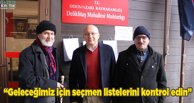 CHP'li Çakırözer'den yurttaşlara seçmen listelerini...