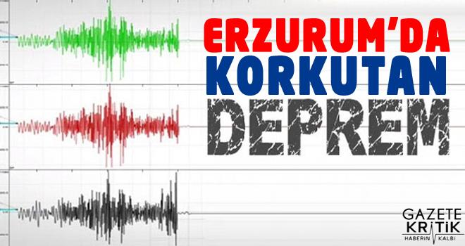 Erzurum'da 3.9 büyüklüğünde deprem