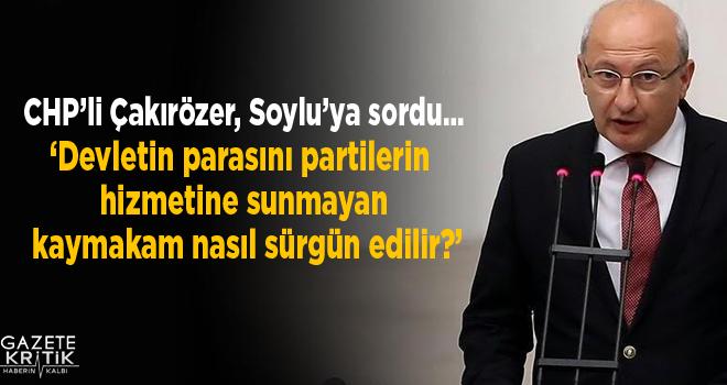 CHP'li Çakırözer, Eskişehir Alpu'da bir skandal...