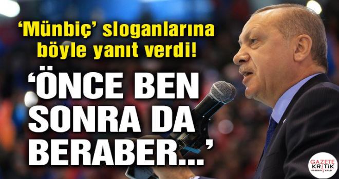 Cumhurbaşkanı Erdoğan: Önce ben, sonrada sizleri...