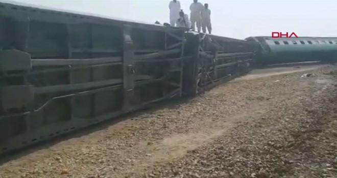 Pakistan'da yolcu trenine bombalı saldırı, 4 ölü