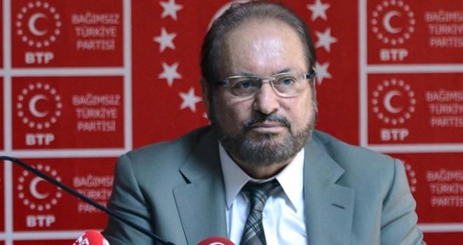 BTP Genel Başkanı Haydar Baş'a uzun namlulu silahlarla...