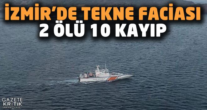 Dikili'de göçmen teknesi battı: 2 ölü, 10 kayıp