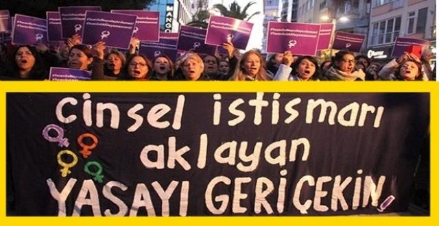 Binlerce kadın AKP'ye 'Cinsel istismar yasasını geri çek!' dedi