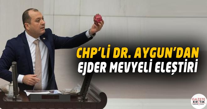 CHP'Lİ DR. AYGUN'DAN EJDER MEVYELİ ELEŞTİRİ