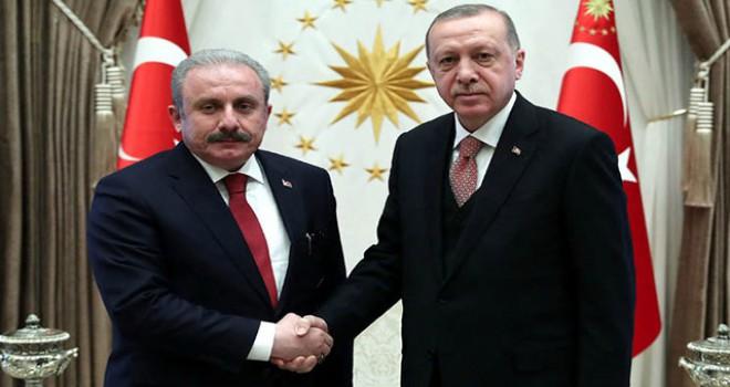 Cumhurbaşkanı Erdoğan, TBMM Başkanı Şentop'u...