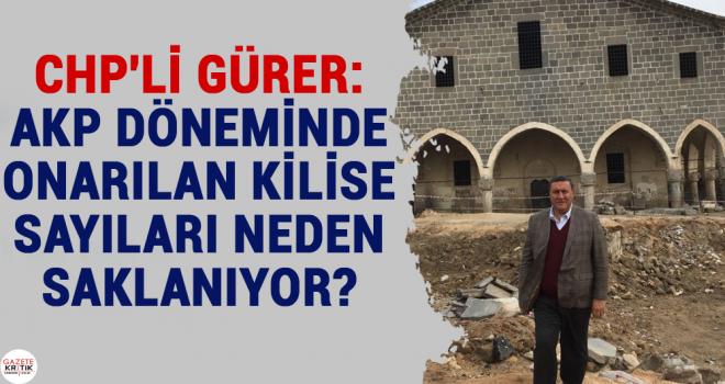 CHP'Lİ GÜRER: AKP DÖNEMİNDE ONARILAN KİLİSE...