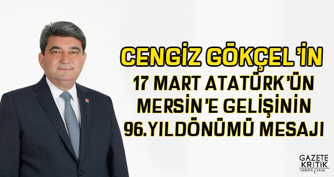 CHP MERSİN MİLLETVEKİLİ CENGİZ GÖKÇEL'İN 17...