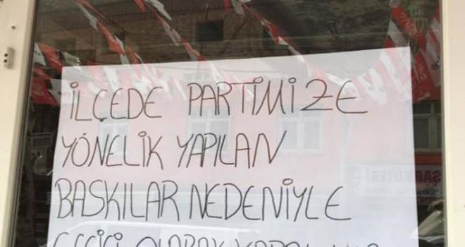 CHP Uludere İlçe Örgütü: Baskılar nedeniyle...