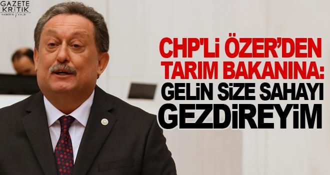 CHP'Lİ ÖZER'DEN TARIM BAKANINA: GELİN SİZE SAHAYI...