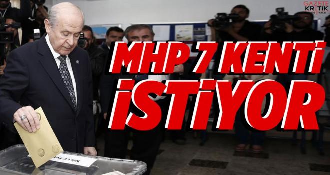 MHP 7 kentin belediye başkanlığı istiyor