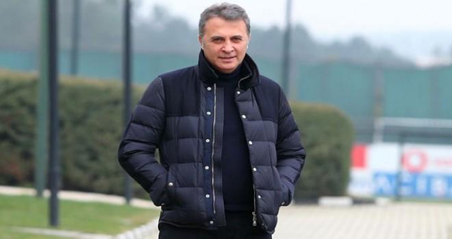 Beşiktaş Başkanı Fikret Orman, antrenmanı takip...