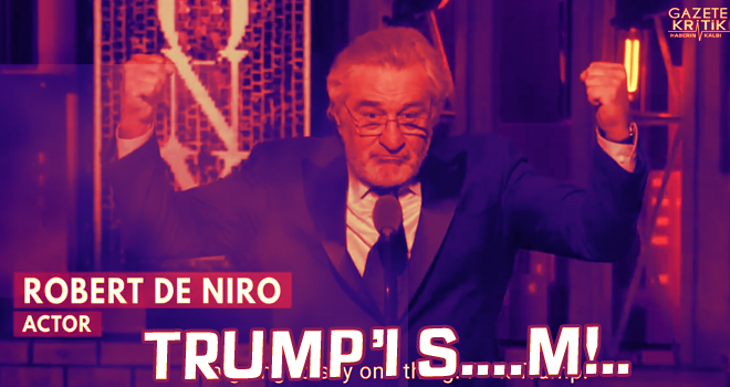 Robert De Niro Trump'a aleni küfür etti işte olay...