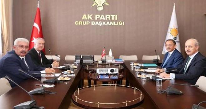 AK Parti ile MHP arasındaki ittifak görüşmeleri...