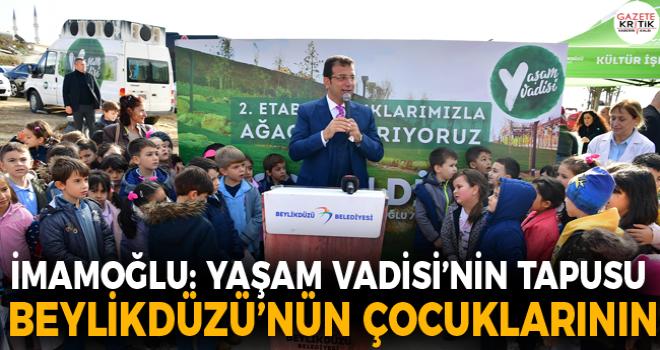 YAŞAM VADİSİ 2.ETAP'I MİNİK ÖĞRENCİLER YEŞİLLENDİRDİ