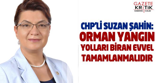 CHP'Lİ SUZAN ŞAHİN: ORMAN YANGIN YOLLARI BİRAN...