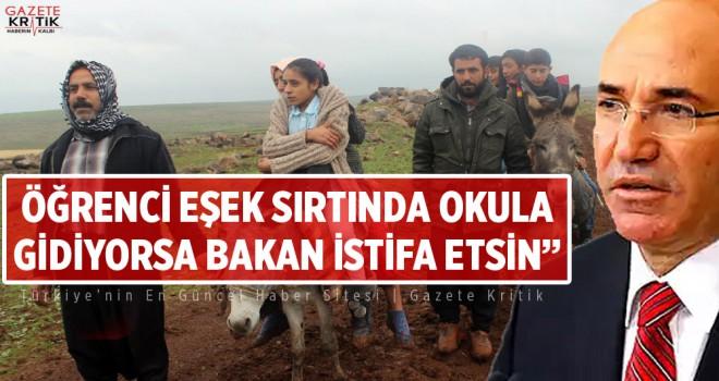 CHP'li MAHMUT TANAL: ÖĞRENCİ EŞEK SIRTINDA OKULA...