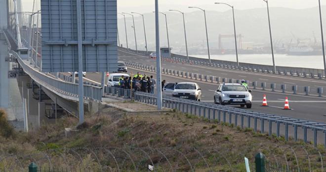 Osmangazi Köprüsü'nde 'Kömürcüler OSB' eylemi