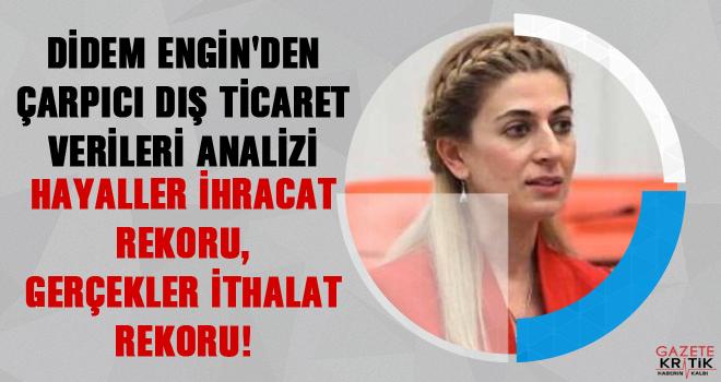 DİDEM ENGİN'DEN ÇARPICI DIŞ TİCARET VERİLERİ...