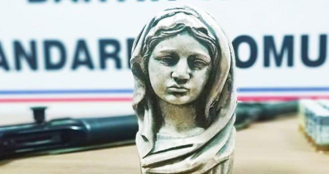 Bartın'da, 'Meryem Ana' figürlü büst ele geçirildi
