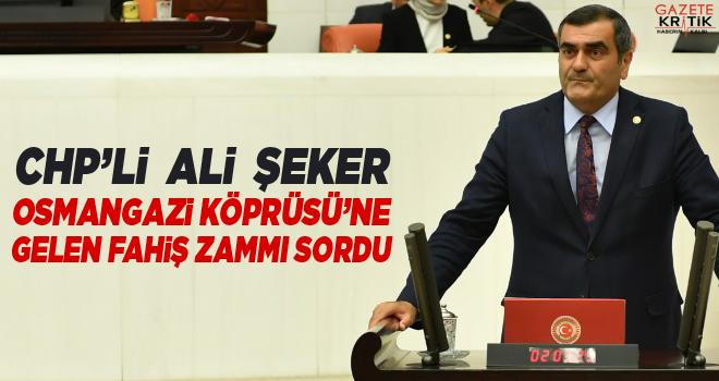CHP'li Ali Şeker Osmangazi Köprüsü'ne Gelen Fahiş...