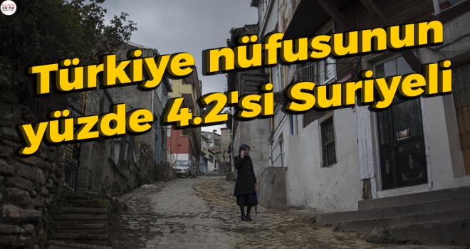 Türkiye nüfusunun yüzde 4.2'si Suriyeli