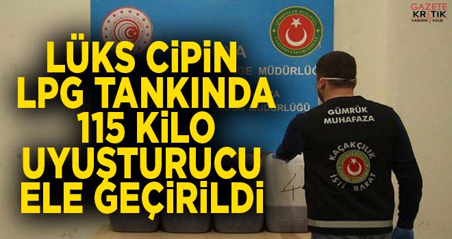 Kapıkule'de cipin LPG tankında 115 kilo uyuşturucu...