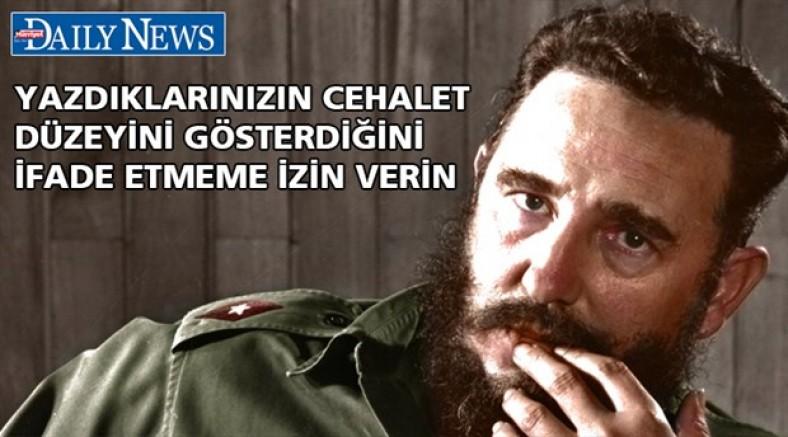 Erdoğan ile Fidel'i karşılaştıran Hürriyet yazarına Küba Büyükelçisi cevap verdi