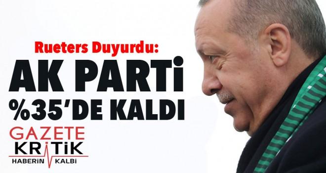 'AK Parti, yaptırdığı anketlerde yüzde 35 oyda...