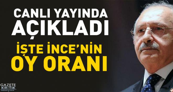 Kılıçdaroğlu: İnce yüzde 32 barajına doğru...